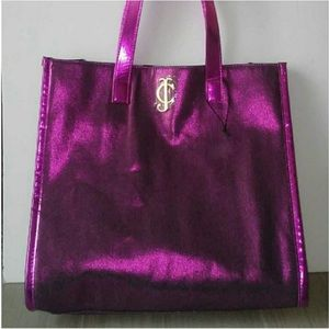 NWOT Juicy Couture Metallic Pink Canvas Tote Bag